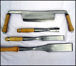 BARR hand forged Slicks, Gouges, Framing Chisels & Drawknives