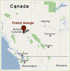 Prince George Canada Map.Contact Magard Ventures Ltd Speacialty Log Building Tools And