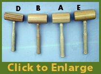 Hickory Carpenter Mallets