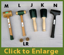 Synthetic & Rawhide Mallets