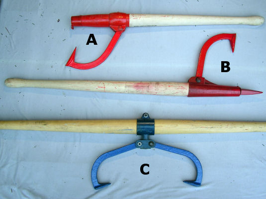 log handling tools - cants, tongs, hooks and peaveys for building ...