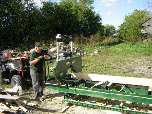 Woodland mills bandsaw sawmill
